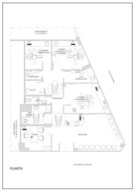 Detalle  2: planta clínica calle Reyes Católicos. Estado reformado
